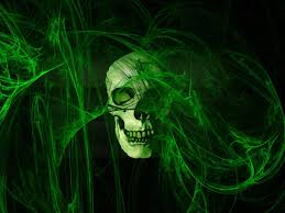 free halloween 3d green skeleton king wallpaper shelbys board