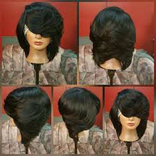 feathered black bob hair styles and ideas pinterest black