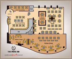 Casino Floor Plan by The Prime Rib And Patio Maryland Live Casino