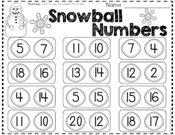 winter activities and centers for kindergarten comparing numbers