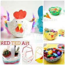 Easter Basket Decorations Ideas by Easter Basket Crafts Red Ted Art U0027s Blog