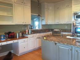 Painted Kitchen Cabinets Before And After Pictures Painting Kitchen Cabinets Before Or After Changing The Counters