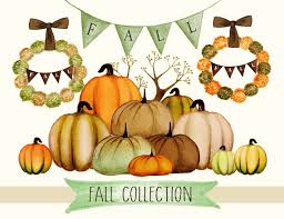 fall clipart watercolor fall clipart thanksgiving clipart fall