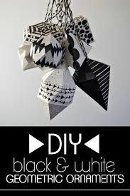 White Christmas Tree With Black Decorations Diy Black And White Geometric Ornaments
