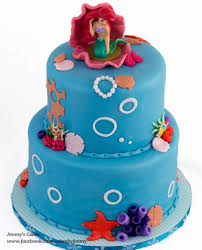 Little Mermaid Birthday Cake Cakecentral Com