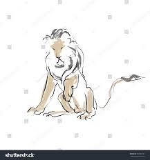 sitting lion sketch stock illustration 737682181 shutterstock