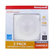 65w led flood light honeywell fp0962 led non adjustable down light 2 pack honeywell store
