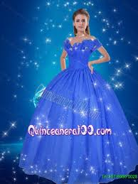cinderella quinceanera pretty made flowers cinderella quinceanera dress in blue