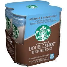 starbucks doubleshot vanilla light starbucks doubleshot espresso espresso cream light 6 5 oz cans