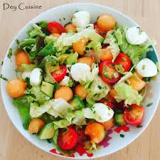 avocat cuisine dey cuisine salade avocat melon mozzarella