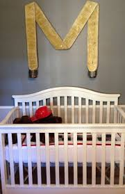 119 best big boy room images on pinterest big boy rooms details bring the theme in any room together a fire hose letter is a cute way to carry a firefighter theme through the nursery