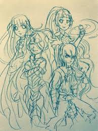 a rough sketch i drew of my main team fireemblemheroes