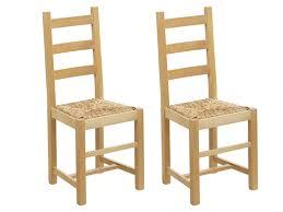 chaise en pin lot de chaises farmer hêtre massif paille de riz
