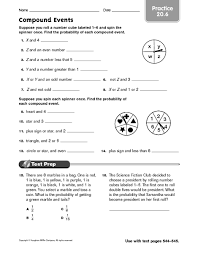 pdf compound probability worksheet answers pdf 28 pages