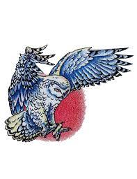 flying owl tattoo free design ideas