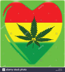 Weed Flag Rasta Stock Vector Images Alamy
