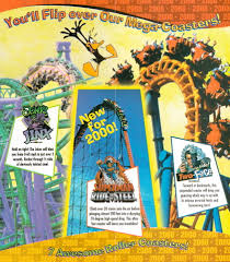 Six Flags Oh Newsplusnotes From The Vault Six Flags America 2000 Brochure