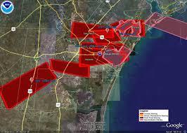 Corpus Christi Map Hurricane Dolly