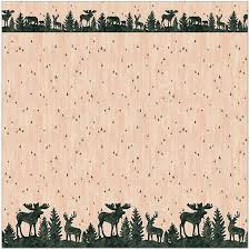 Moose Bathroom Accessories by Moose Cabin Lodge Bathroom Accessories Designer Shower Curtain