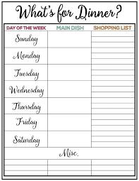 weekly menu planning pertamini co