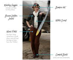 Iconic Female Characters Halloween List Of Costume Elements For Amelia Earhart Costume Fall