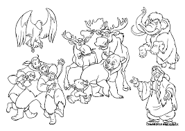 brother bear coloring pages getcoloringpages com