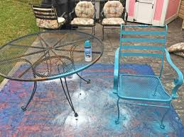 makeovermonday painting 12 year old patio furniture the daily
