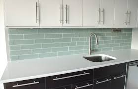small kitchen decoration using light blue subway tile kitchen