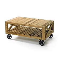 reclaimed wood coffee table with wheels chatsworth reclaimed wood coffee table on wheels