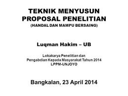 contoh membuat proposal riset metode penelitian proposal riset yang dibiayai ppt download