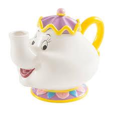 beauty and the beast mrs potts sculpted ceramic teapot thinkgeek