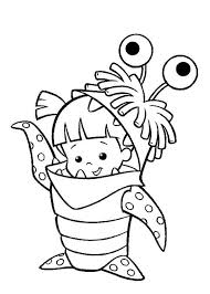 monsters inc coloring pages boo monsters inc boo in her monster costume in monsters inc coloring