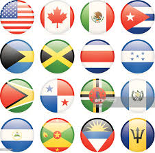 Latin American Flags North Central And South America Flags Illustration Vector Art