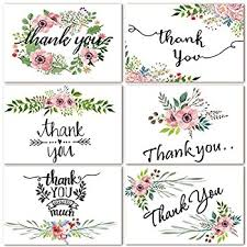 floral painting thank you notes 10 cards envelopes