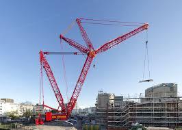 swiss company u0027s 1 000 tonne liebherr crawler provides concrete