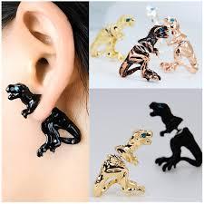dinosaur earrings 1pcs 5 colors handmade steunk dinosaur earrings for women