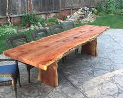 Redwood Patio Table Patio Furniture Etsy