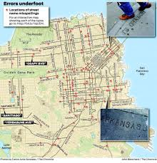 Map Of Mlb Teams On The Hunt For S F Street Stamp Typos Sfgate