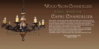 Wood Iron Chandelier Wrought Iron Chandeliers Lighting Iron Lighting Light Fixtures