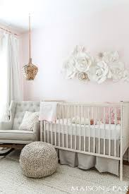 Nursery Decor Pictures Blush Nursery With Neutral Textures Maison De Pax