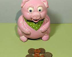 keepsake piggy bank breakable piggy bank etsy