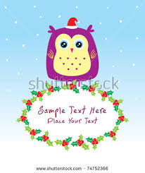 merry christmas owl doodle stock vector 54969598 shutterstock