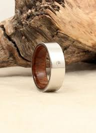 diamond wood rings images Diamond inlay cobalt wooden ring lined with uss north carolina JPG