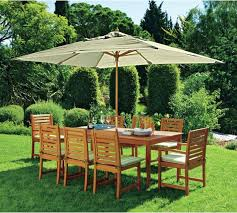 8 Seater Patio Table And Chairs Buy Collection 8 Seater Wooden Patio Set Green At Argos