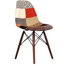 chaises dsw eames design d intérieur chaise eames patchwork style fabric dsw