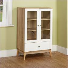 Glass Curio Cabinet With Lights Kitchen Room Wonderful Oak Corner Curio Contemporary Glass Curio