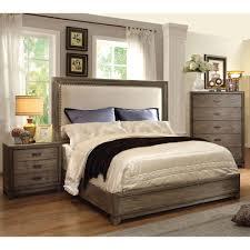 Rustic King Bedroom Sets - furniture of america arian rustic natural ash bed california