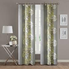 Yellow And Grey Curtain Panels Park Anaya Window Curtain Ebay