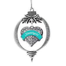 flower girl christmas ornament teal flower girl heart ornament walmart