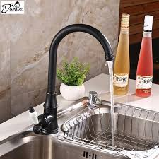 retro kitchen faucet classic retro black bathroom faucet single handle deck mounted